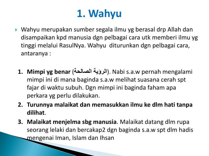 1. Wahyu
