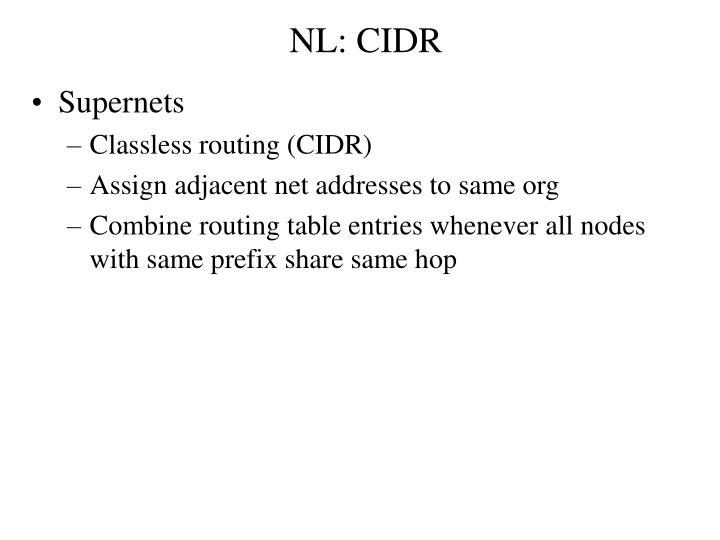 NL: CIDR