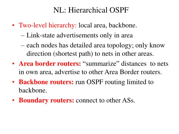 NL: Hierarchical OSPF