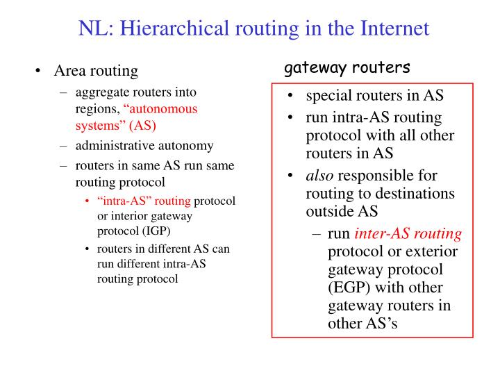 Area routing