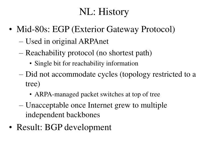 NL: History