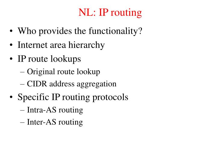 NL: IP routing
