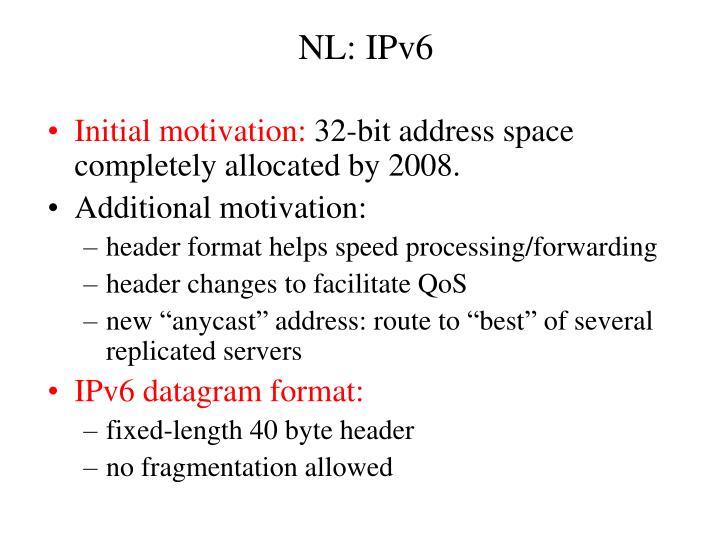 NL: IPv6