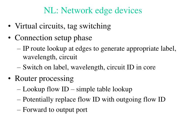 NL: Network edge devices