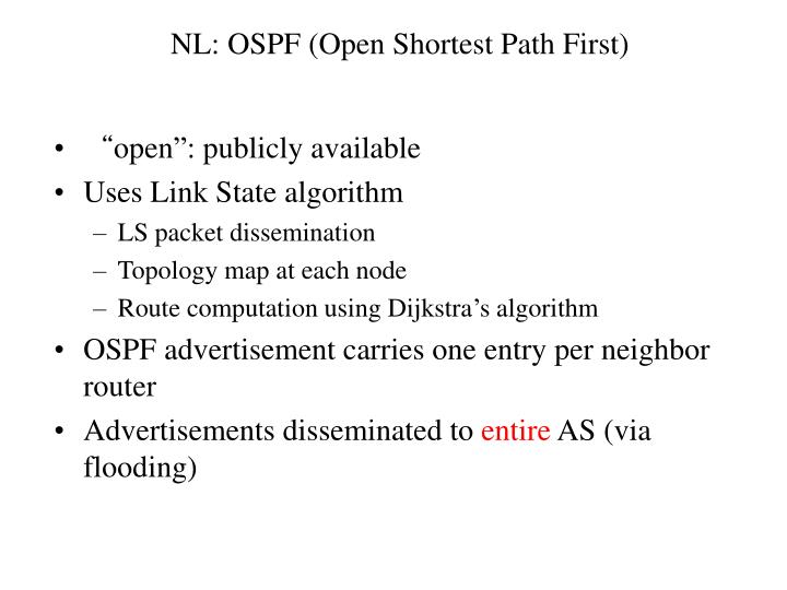 NL: OSPF (Open Shortest Path First)