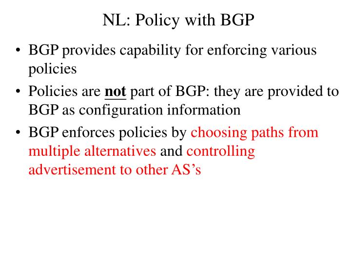 NL: Policy with BGP