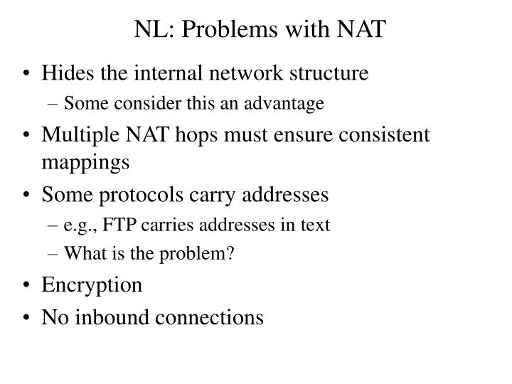 NL: Problems with NAT