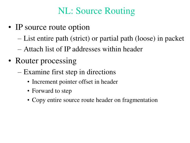 NL: Source Routing