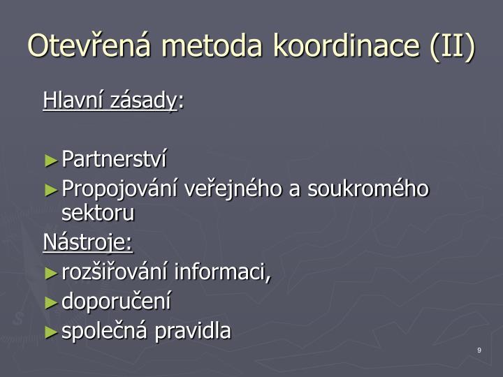 Otevřená metoda koordinace (II)