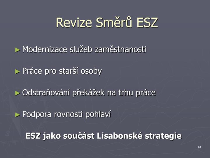 Revize Směrů ESZ