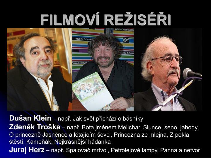 FILMOVÍ REŽISÉŘI