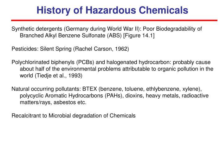 History of Hazardous Chemicals