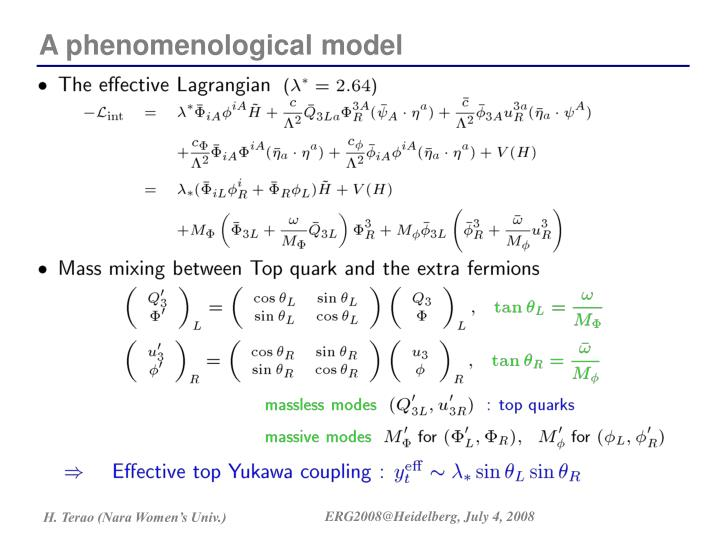 A phenomenological model