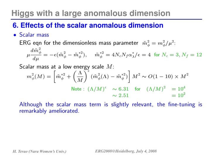 Higgs with a large anomalous dimension