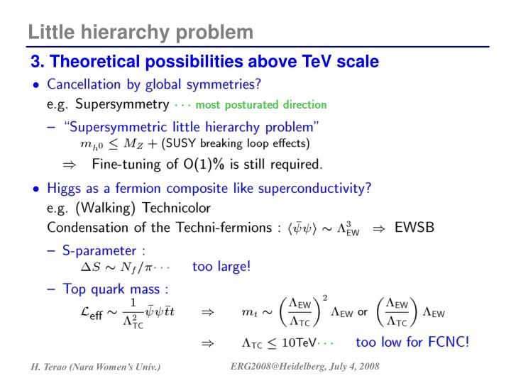 3. Theoretical possibilities above TeV scale