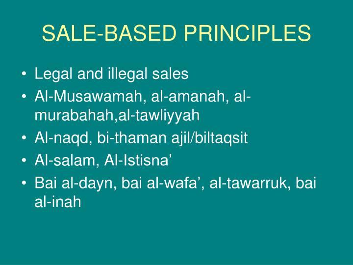 SALE-BASED PRINCIPLES