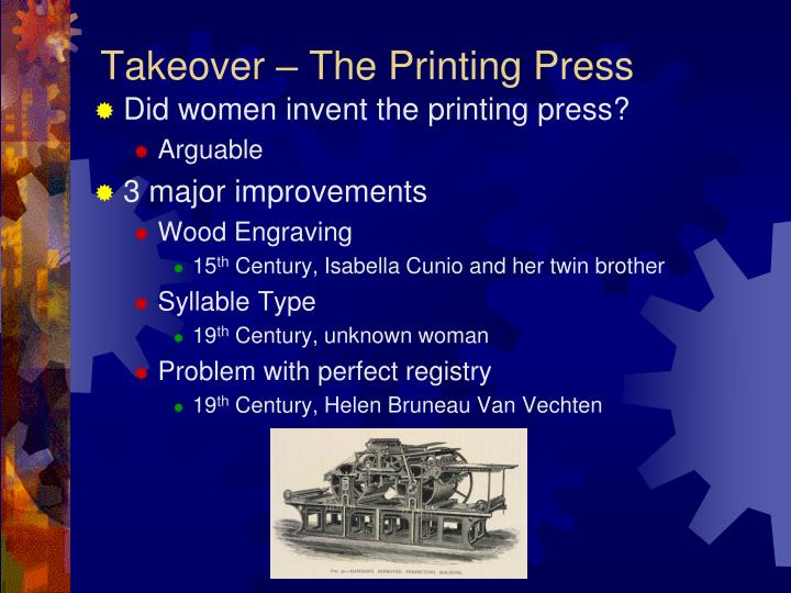 Takeover – The Printing Press