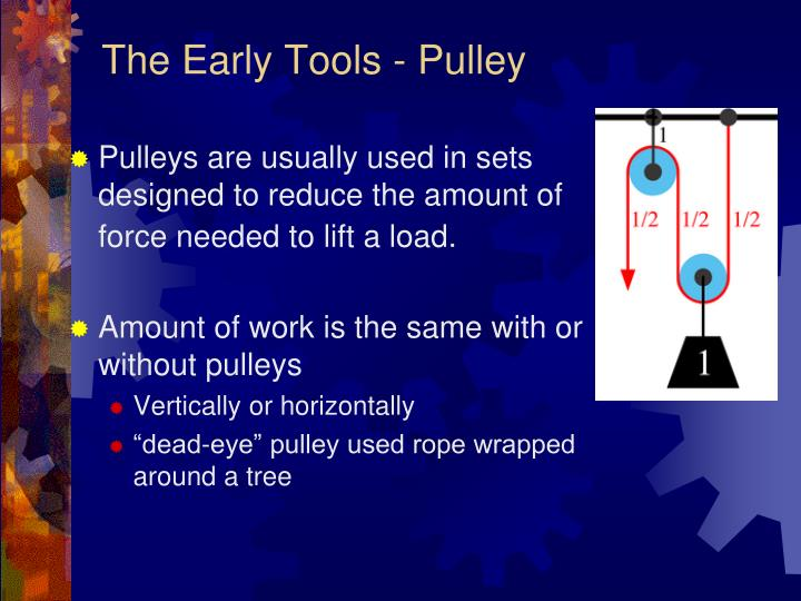 The Early Tools - Pulley