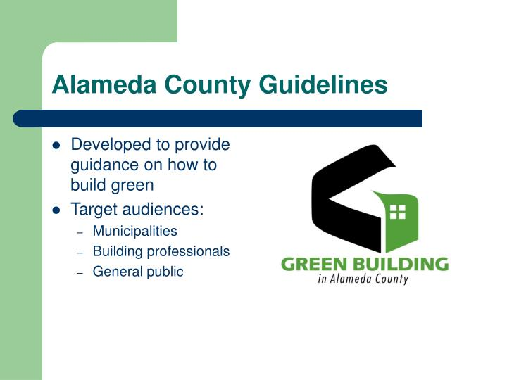 Alameda county guidelines