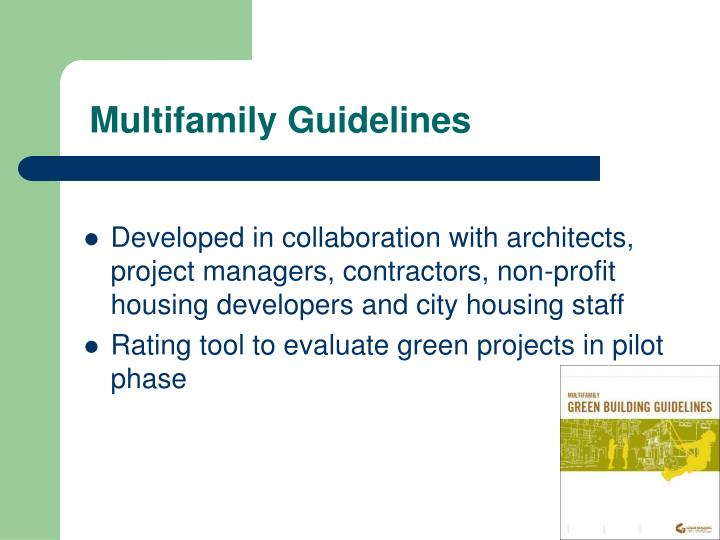 Multifamily Guidelines