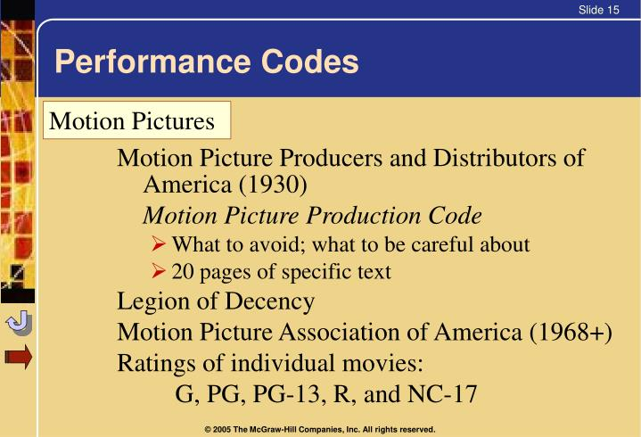 Performance Codes
