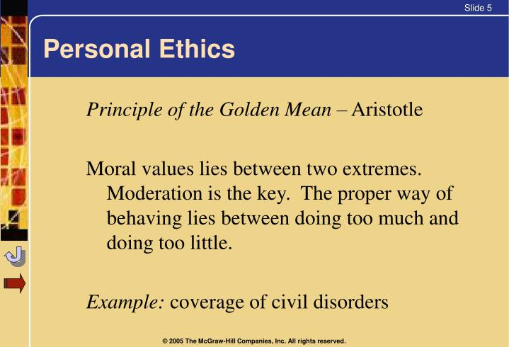 Personal Ethics