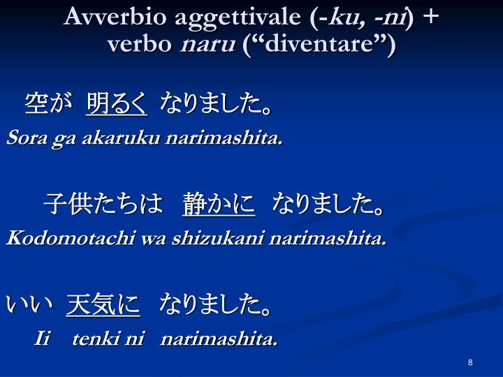 Avverbio aggettivale (-