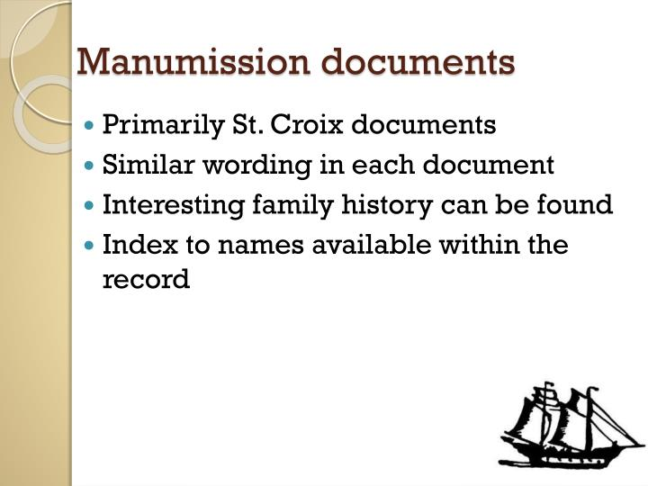 Manumission documents