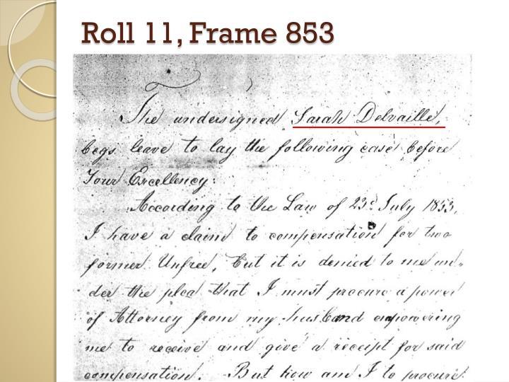Roll 11, Frame 853