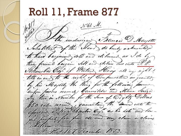 Roll 11, Frame 877