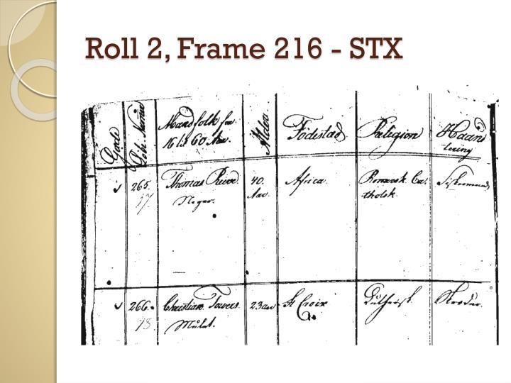 Roll 2, Frame 216 - STX