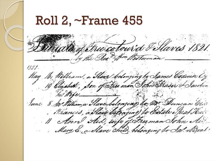Roll 2, ~Frame 455