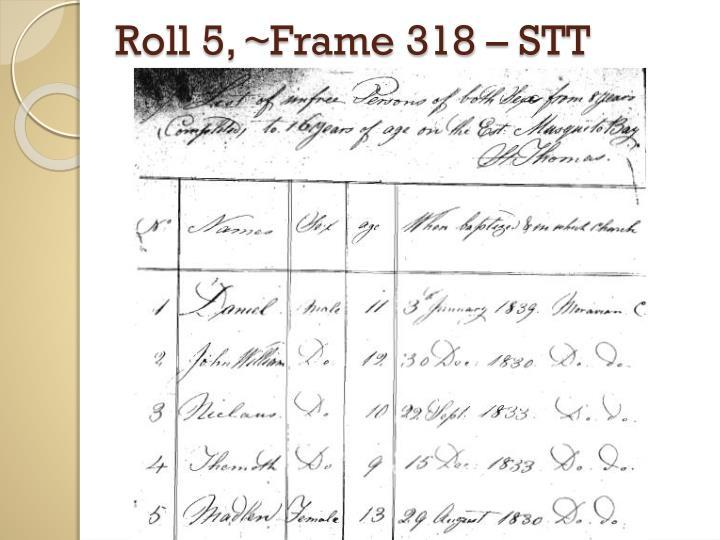 Roll 5, ~Frame 318 – STT