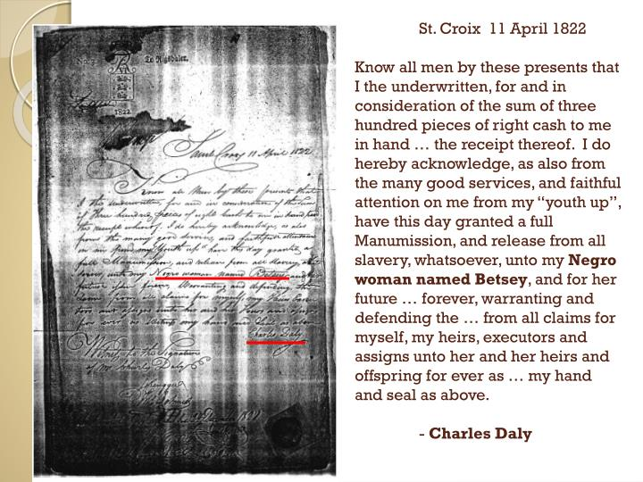 St. Croix  11 April 1822