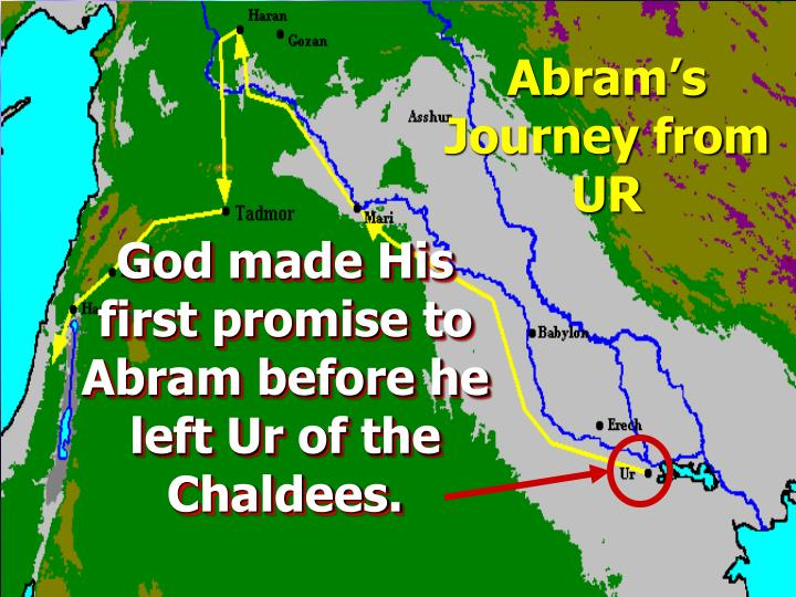 Abram's Journey from UR