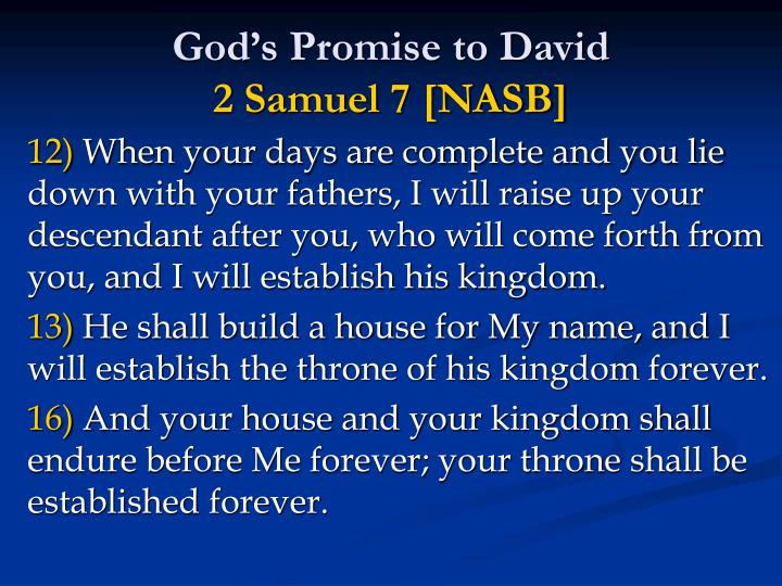 Gods Promise to David