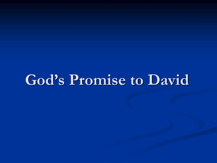 God's Promise to David