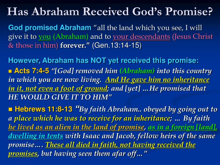 Has Abraham Received Gods Promise?