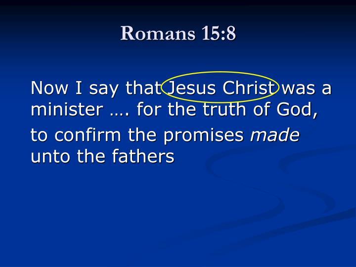 Romans 15:8