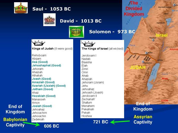 Saul -  1053 BC