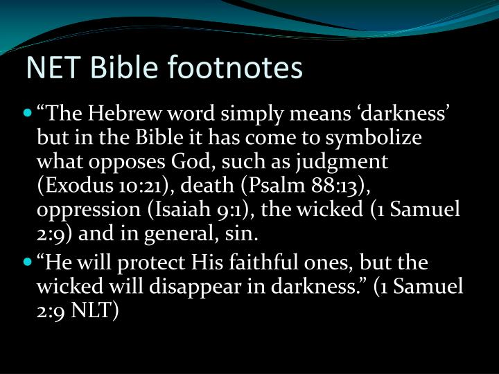 NET Bible footnotes