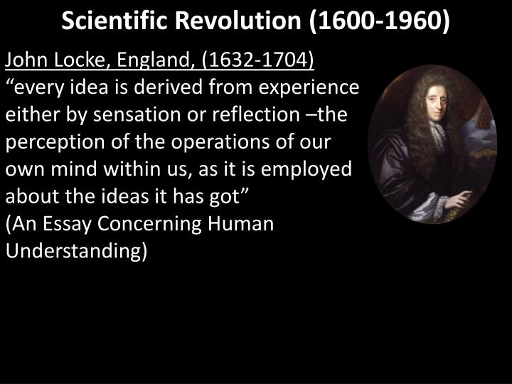 Scientific Revolution (1600-1960)