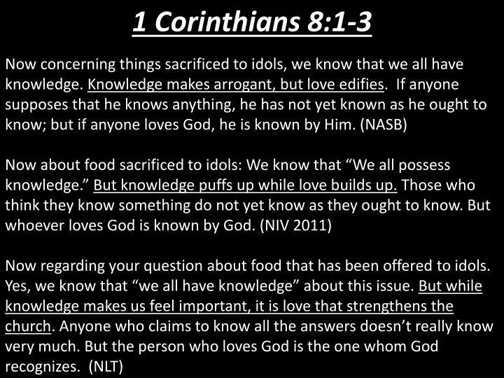 1 Corinthians 8:1-3