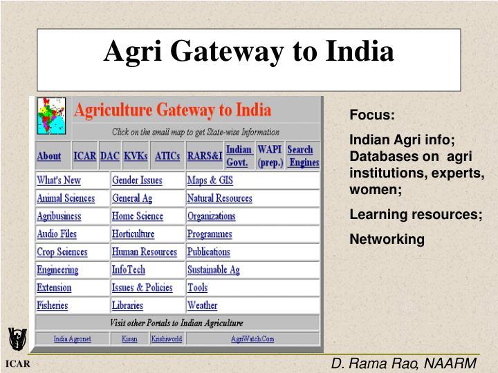 Agri Gateway to India