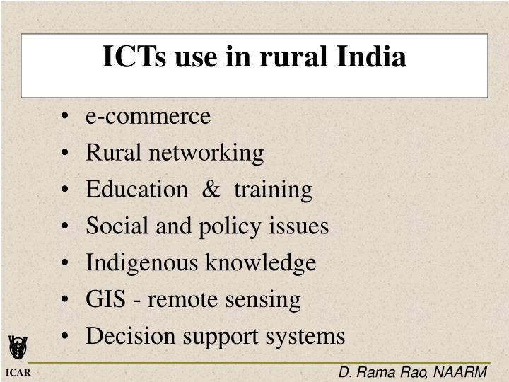 ICTs use in rural India