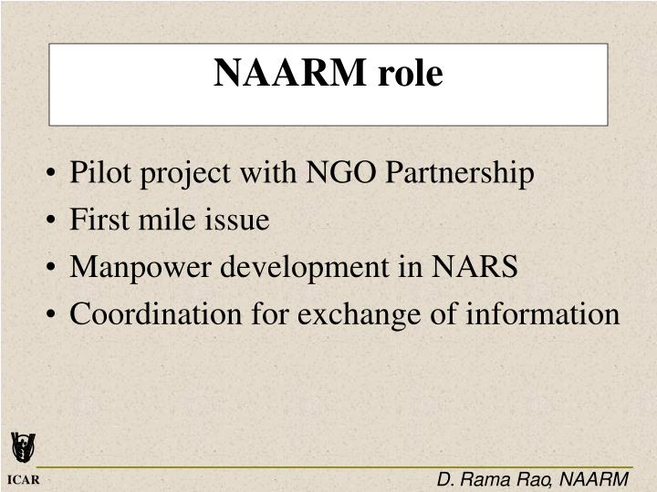 NAARM role