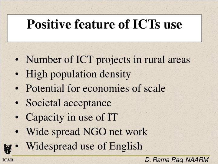 Positive feature of ICTs use