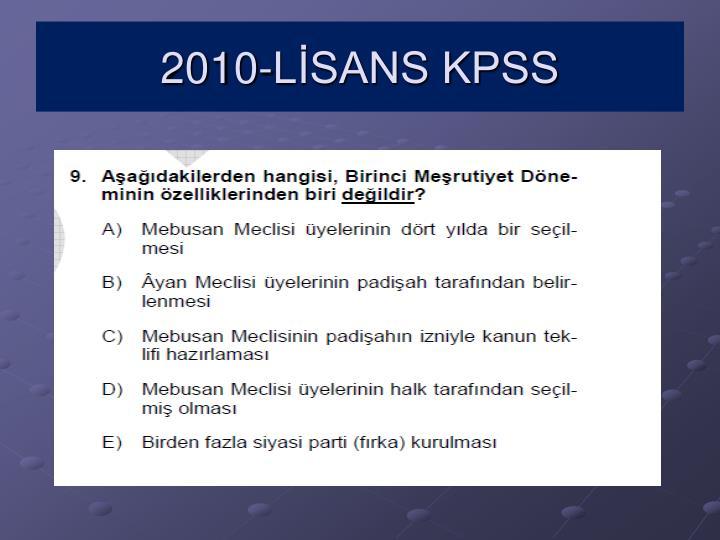 2010-LİSANS KPSS