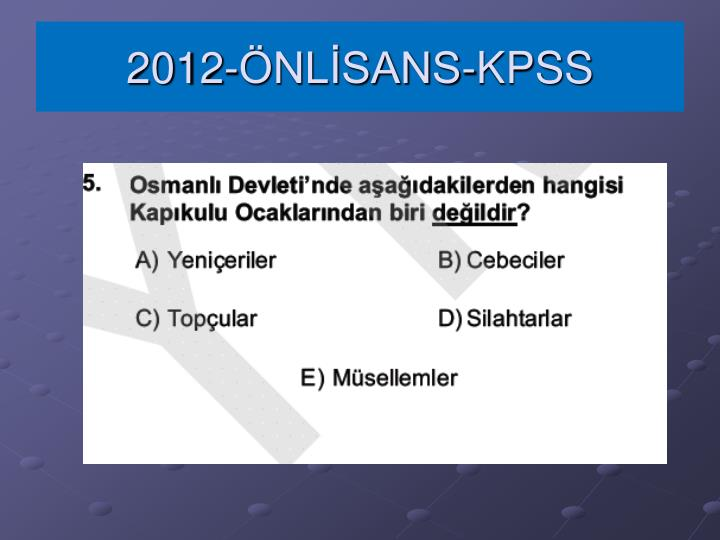 2012-ÖNLİSANS-KPSS