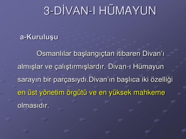 3-DİVAN-I HÜMAYUN